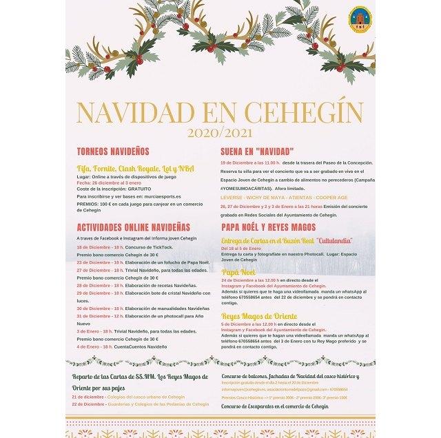 El Ayuntamiento de Cehegín presenta un programa para disfrutar de la Navidad con todas las precauciones - 1, Foto 1