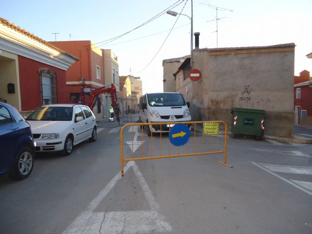 The renovation works of the network and sewage connections in the Callejón of the Guadalentín Valley and Extremadura streets are started, Foto 3