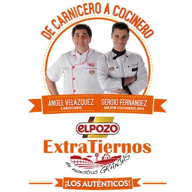 El chef Sergio Fernández protagoniza, junto a un carnicero real, la nueva campaña de ElPozo ExtraTiernos, Foto 1