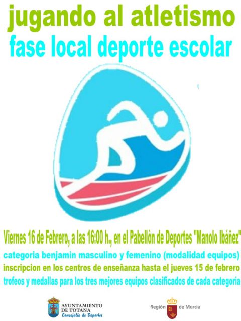 "The Local Phase of ""Playing athletics"" of School Sports will take place tomorrow at the Sports Pavilion ""Manolo Ibáñez"""