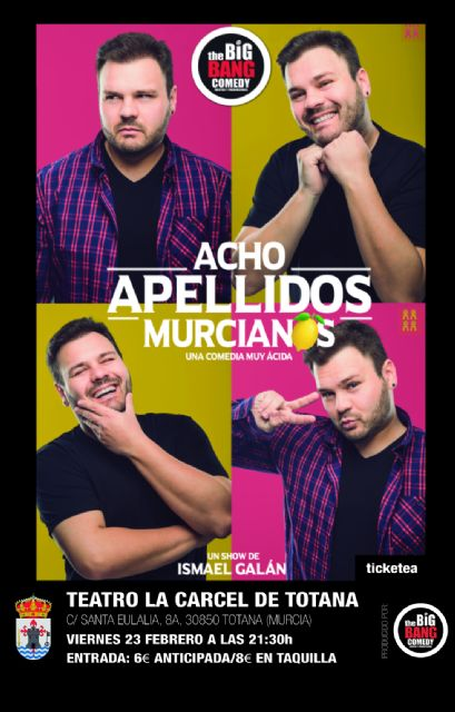 "The show-show ""Acho surnames murcianos"" arrives next February 23 at Totana"