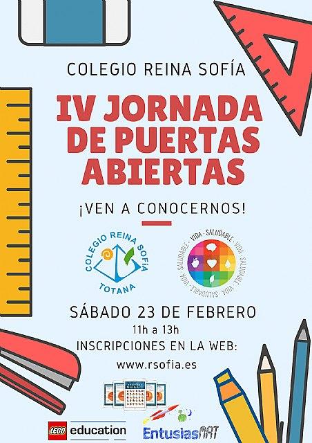 La IV jornada de puertas abiertas Colegio Reina Sofía tendrá lugar el sábado 23 de febrero