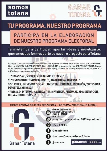 PROCESO PARTICIPATIVO, ELABORACIÓN COLECTIVA. PROGRAMA DE GOBIERNO MAYO 2019.