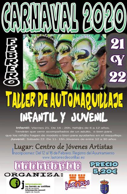 La Concejalía de Juventud propone dos talleres de maquillaje de Carnaval - 1, Foto 1