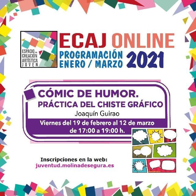 La Concejalía de Juventud de Molina de Segura inicia el viernes 19 de febrero la formación Workshop: Cómic de humor. Práctica del chiste gráfico - 1, Foto 1