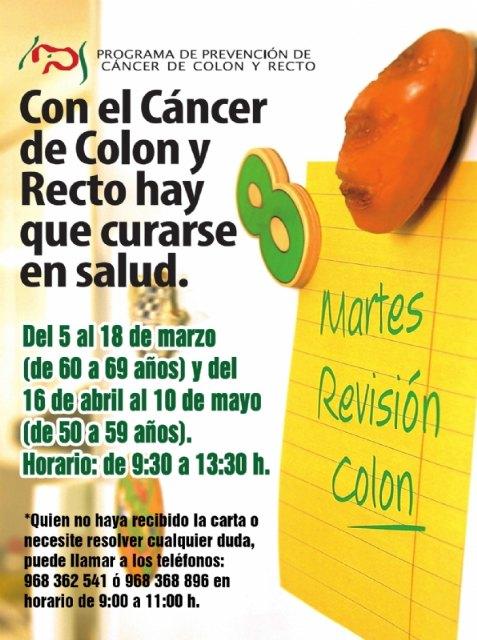 Si tienes entre 50 y 69 años hazte la prueba del cáncer de colon y recto. Del 5 de marzo al 10 de mayo de 2021, Foto 1