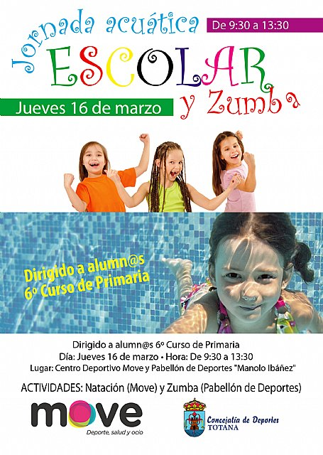 They organize a school aquatic day tomorrow and Zumba, where they will participate all the schools of Totana