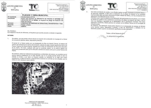 El PP denuncia que Juan José Cánovas miente al adjudicarse el mérito de la construcción de la piscina del Hotel de La Santa, Foto 2