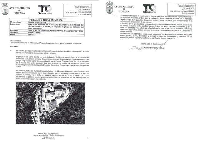 The PP denounces that Juan José Cánovas lies in claiming the merit of the construction of the pool of the Hotel de La Santa - 2