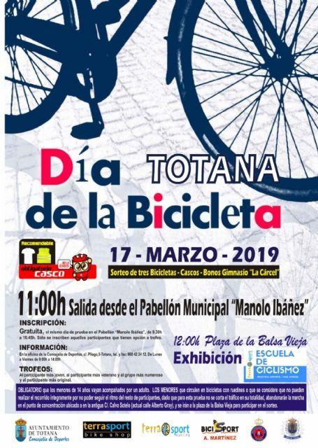 El Día de la Bicicleta se celebra este domingo 17 de marzo, organizado por la Concejalía de Deportes y