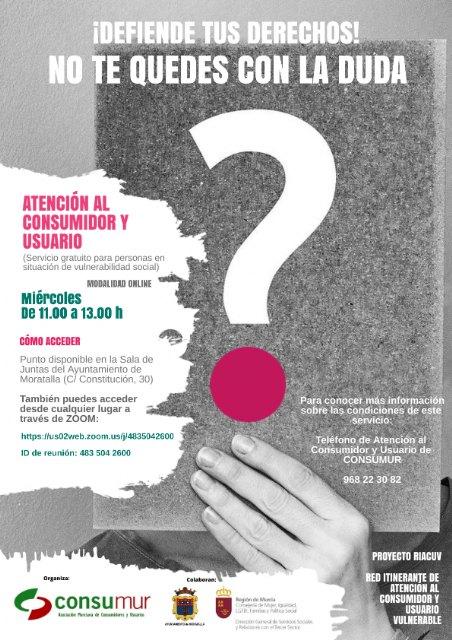 CONSUMUR prestará en el municipio de Moratalla un nuevo servicio virtual de Atención al Consumidor y Usuario - 1, Foto 1