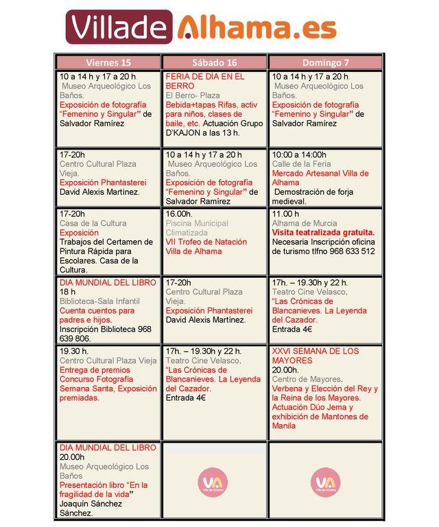 ¿Qué hay en Alhama este fin de semana? La Agenda + Completa, Foto 2