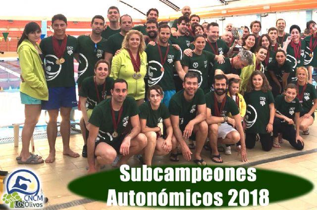 El Club Natación Ciudad de Murcia Los Olivos se proclama Subcampeón en el 2° Campeonato Autonómico Open Máster de Natación Región de Murcia - 2, Foto 2