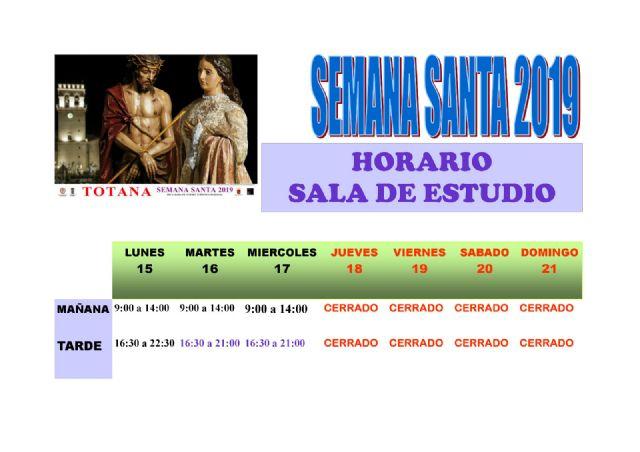 Se modifica temporalmente los horarios de apertura de la Biblioteca Municipal y la Sala de Estudio por las fiestas de Semana Santa - 2, Foto 2