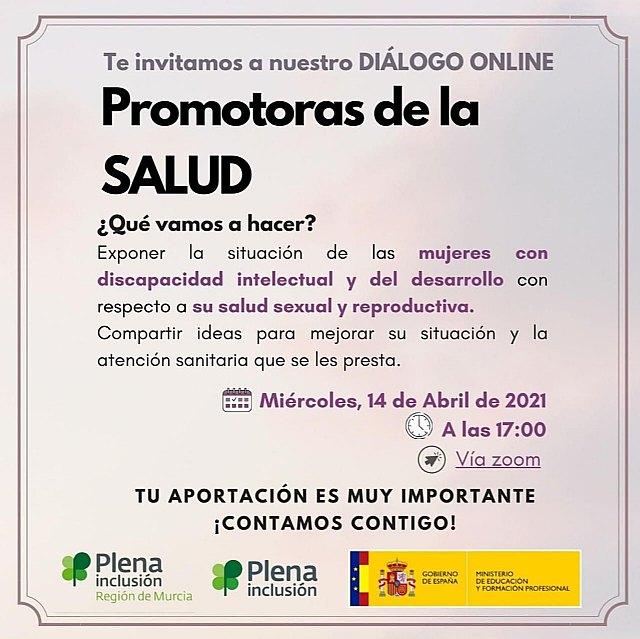El Ayuntamiento de Mula participa en un encuentro online sobre salud sexual y reproductiva en mujeres con discapacidad - 1, Foto 1