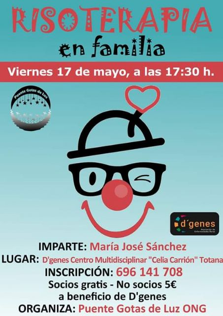 "This Friday there will be a session of Laughter therapy with the family at the ""Celia Carrión Pérez de Tudela"" Multidisciplinary Center in Totana"