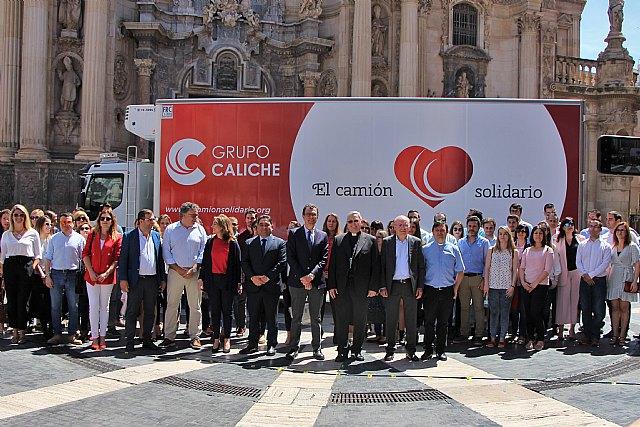 El Grupo Caliche pone a disposición de Cáritas su camión solidario - 1, Foto 1