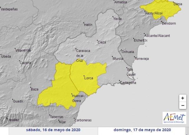 Fenómenos adversos nivel amarillo por tormentas para mañana