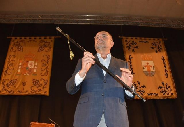 Juan José Cánovas (Win Totana-IU V), new mayor of Totana for the 2019/2023 legislature, with 11 supports from the 21 councilors that make up the Municipal Corporation