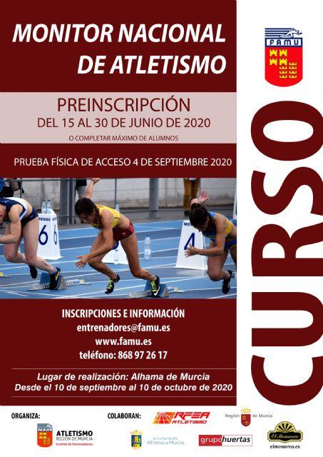 Convocado el curso de Monitor Nacional de Atletismo - 1, Foto 1