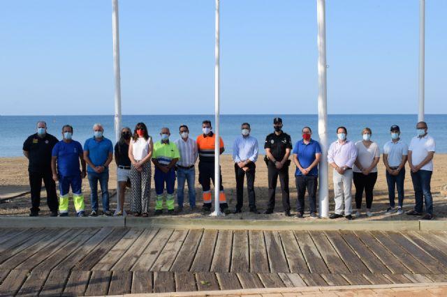 Mazarrón iza las banderas que ponen de manifiesto la calidad turística de sus playas - 2, Foto 2