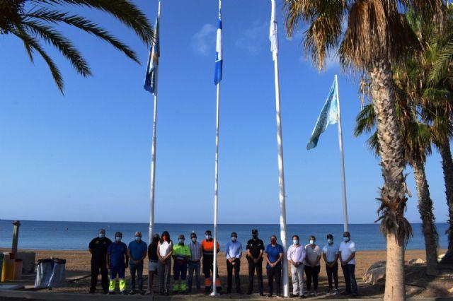 Mazarrón iza las banderas que ponen de manifiesto la calidad turística de sus playas - 3, Foto 3