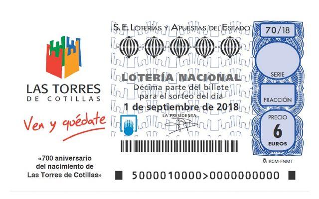El 700° aniversario como mayorazgo de Las Torres de Cotillas, protagonista de la Lotería Nacional - 1, Foto 1