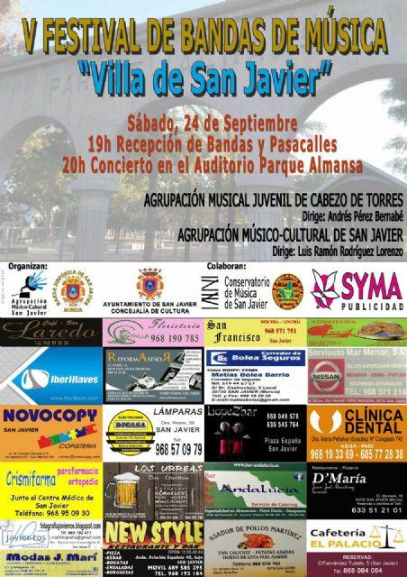 El V Festival de Bandas de Música Villa de San Javier tendrá como invitada a la Agrupación Musical Juvenil de Cabezo de Torres - 1, Foto 1