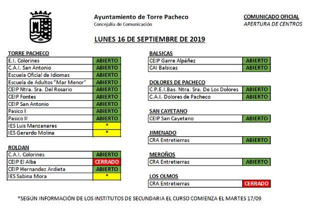 El colegio El Alba de Roldán y el colegio de Los Olmos, permanecerán cerrados mañana lunes - 4, Foto 4