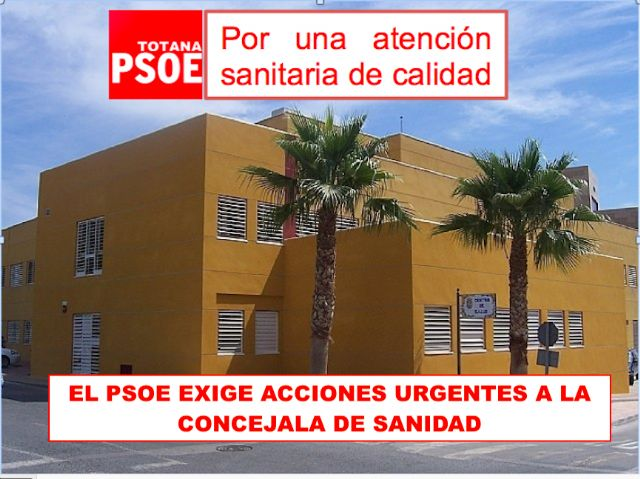The PSOE demands urgent actions from the Councilor for Health