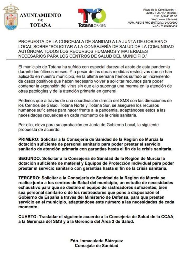 La concejala de Sanidad sale al paso de la nota de prensa del PSOE, Foto 1