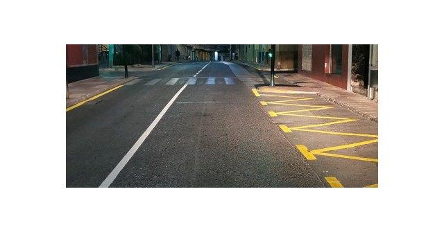 El ayuntamiento de Cehegín realiza el repintado integral de todas las señales viales del pavimento del municipio - 1, Foto 1