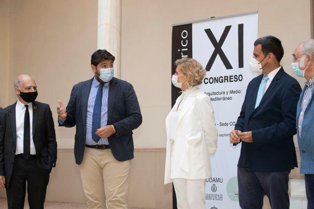 El presidente López Miras recibe al comité organizador del XI Congreso Internacional Docomomo Ibérico - 1, Foto 1