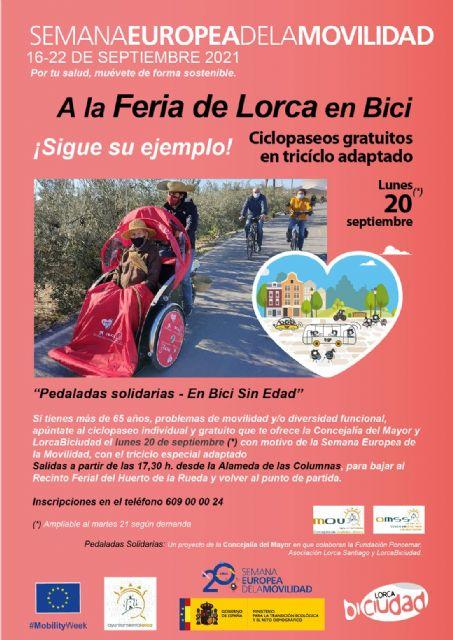 El Ayuntamiento de Lorca y Lorca Biciudad organizan varias actividades con motivo de la de la Semana Europea de Movilidad que se celebrará del 16 al 22 de septiembre - 2, Foto 2