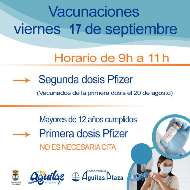 Centro Comercial Águilas Plaza acogerá una nueva jornada de vacunaciones masivas contra la COVID 19 sin cita - 1, Foto 1