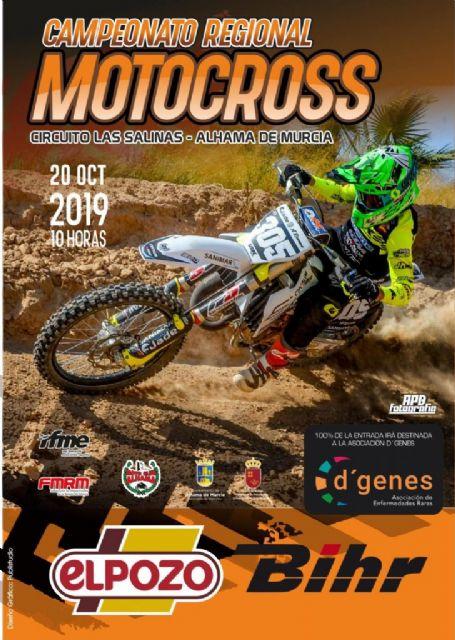 La prueba de motocross del Campeonato Regional será solidaria con D´Genes, Foto 1
