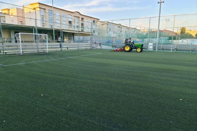 Los Campos de fútbol municipales de Cartagena se ponen a punto para la nueva temporada deportiva - 1, Foto 1