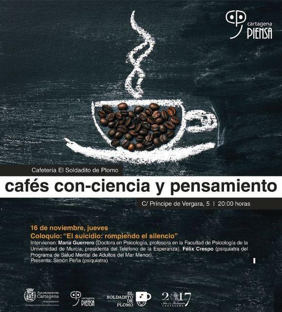 Cafe con-ciencia y pensamiento debate el tabu del suicidio - 1, Foto 1
