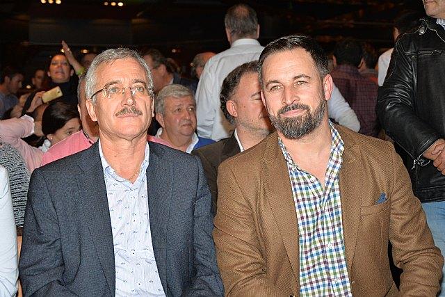 Santiago Abascal y Ortega Lara llenan el acto de VOX en Murcia - 3, Foto 3