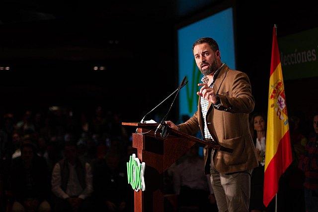 Santiago Abascal y Ortega Lara llenan el acto de VOX en Murcia - 4, Foto 4