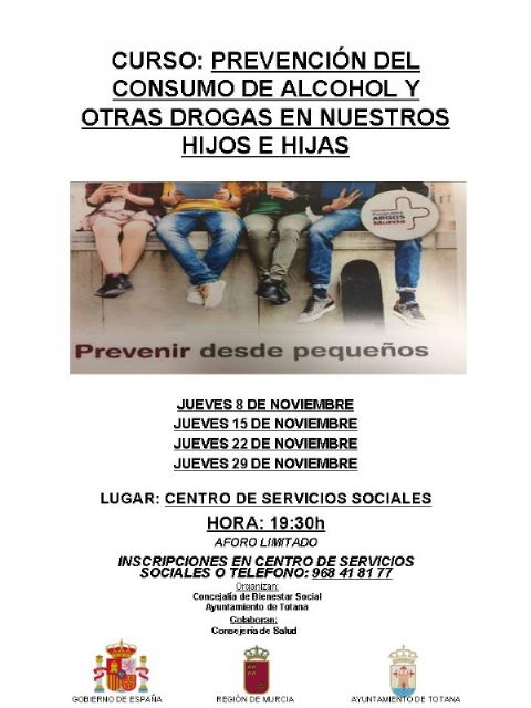 "The lectures of the course on ""Prevention of the consumption of alcohol and other drugs in our sons and daughters"" continue every Thursday of this month."