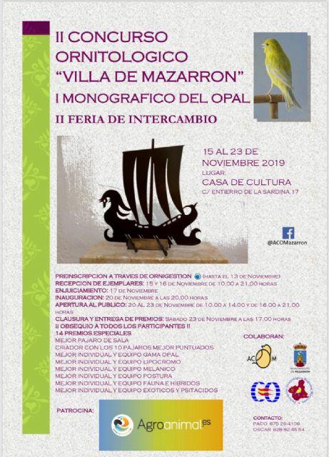1400 ejemplares se darán cita en el II concurso ornitológico Villa de Mazarrón - 1, Foto 1
