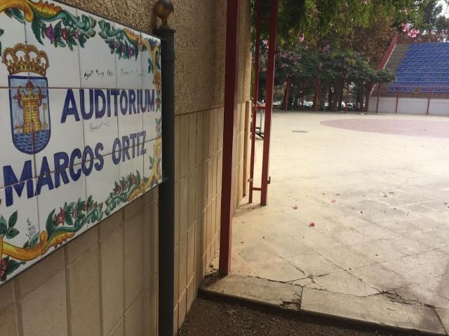 "They will ask the Autonomous Community financing to undertake the cover and closure of the auditorium of the municipal park ""Marcos Ortiz"" - 1"