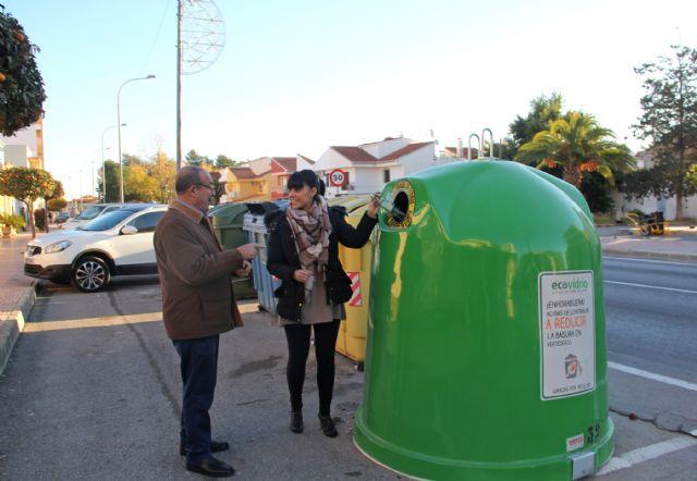 Instalan 34 contenedores nuevos para fomentar el reciclaje de vidrio en Puerto Lumbreras - 1, Foto 1