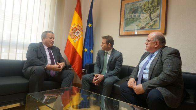 El Alcalde de Torre-Pacheco Antonio León se reúne con el delegado del Gobierno en la Región, Francisco Bernabé - 1, Foto 1