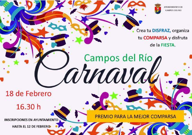La concejalía de Festejos invita a participar en el Carnaval de Campos del Río, Foto 1