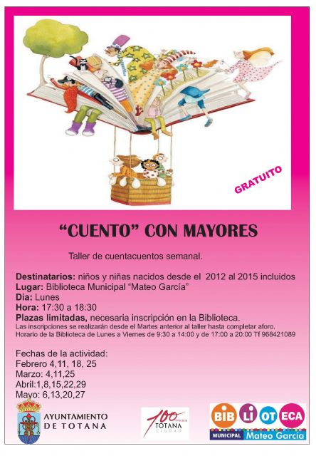 "They organize a weekly storytelling workshop called ""Cuento con Mayores"""