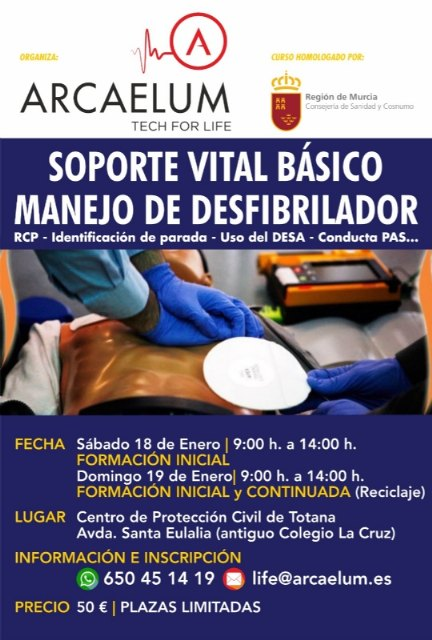 Organize a Basic Life Support Course (SVB) with Defibrillator Management