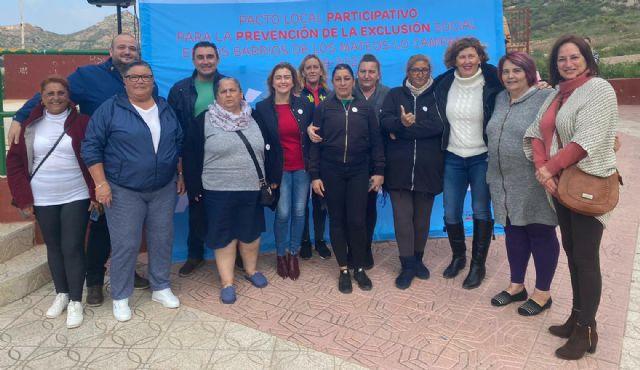 El PSOE de Cartagena acompaña a los vecinos y entidades de Lo Campano en su apuesta por visualizar las necesidades del barrio - 1, Foto 1