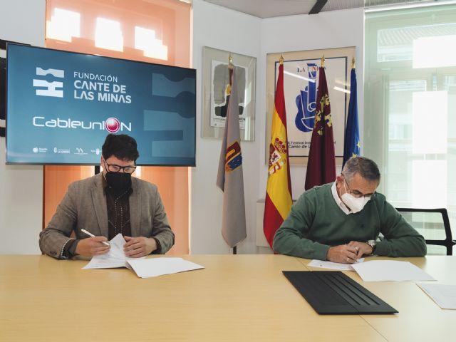 La Fundación Cante de las Minas y Cableunión Media sellan su compromiso tecnológico - 2, Foto 2